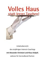 mit Alexander Christiani und Klaus Kobjoll - Flach Service-Bund ...