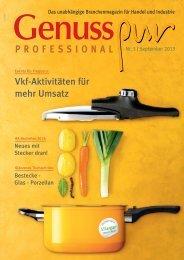 GENUSS PROFESSIONAL, Ausgabe 5/2013