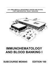 immunohematology and blood banking i - Survival & Self-Reliance ...