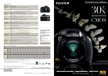 Finepix HS-10 Brochure - Fujifilm USA