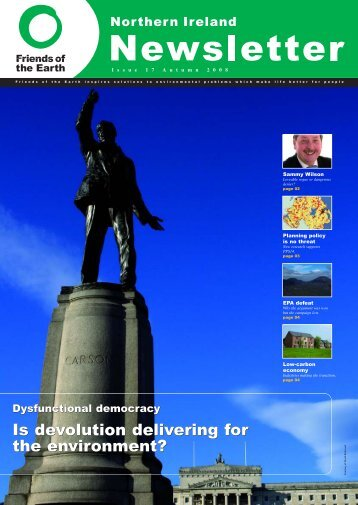 Northern Ireland Newsletter issue 17 - Friends of the Earth