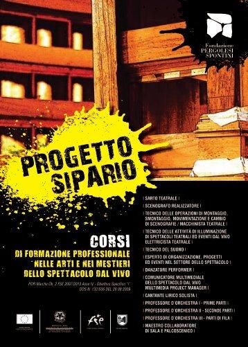 PROGETTO SIPARIO - Fondazione Pergolesi Spontini