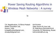 Power Saving Routing Algorithms in Wireless Mesh ... - FRUCT
