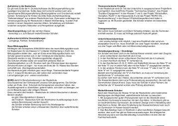 FRS von A - Z - auf der Website der Friedrich Realschule Weinheim.