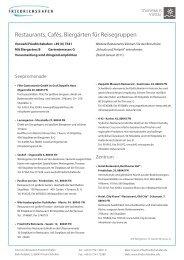 Restaurants, Cafés, Biergärten für Reisegruppen - Friedrichshafen