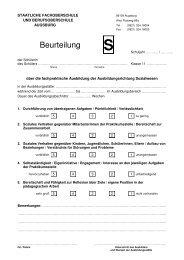 Beurteilung - Staatliche Fachoberschule und Berufsoberschule ...