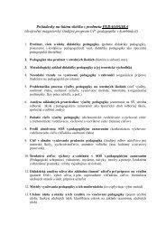 UP: pedagogika v kombinácii