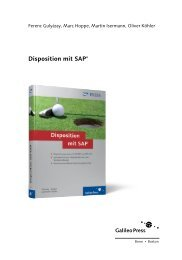 Disposition mit SAP (PDF) - SAP PRESS