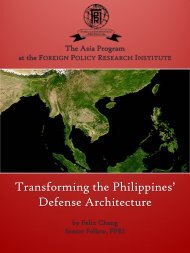 Transforming the Philippines' Defense Architecture - Foreign Policy ...
