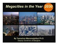 Megacities in the Year 2030