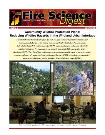 Fire Science Digest Issue 5 July 2009 - Joint Fire Science Program