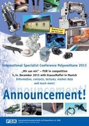 International Specialist Conference Polyurethane 2013 - FSK
