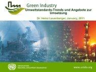 Umweltstandards-Trends und Angebote zur Umsetzung