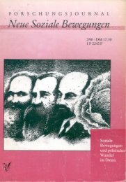 Vollversion (7.73 MB) - Forschungsjournal Neue Soziale Bewegungen