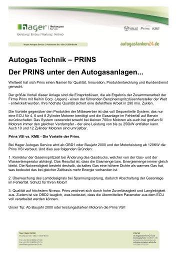Autogas Technik – PRINS Der PRINS unter den Autogasanlagen...