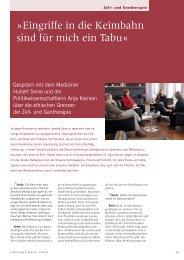 Eingriffe in die Keimbahn sind für mich Tabu - Forschung Frankfurt ...