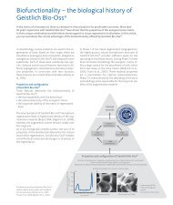 Biofunctionality – the biological history of Geistlich Bio-oss®