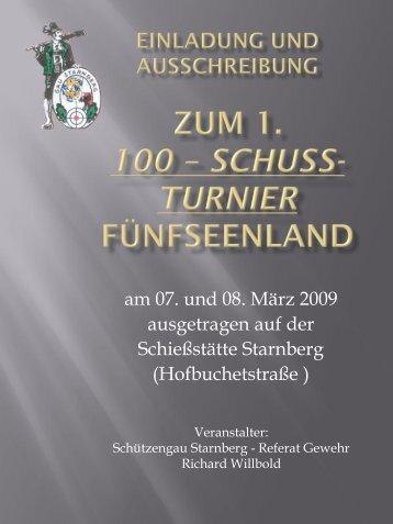 Einladung und Auschreibung zum 1. 100 ... - im Gau Starnberg!