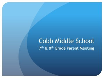 Welcome to Cobb Middle School - Frisco ISD