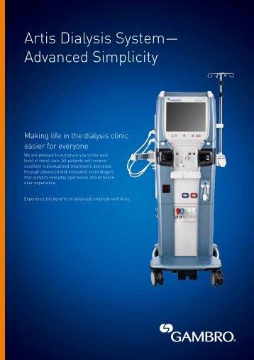 Artis Dialysis System— Advanced Simplicity - Gambro