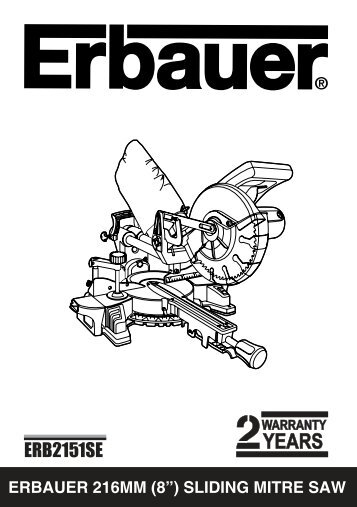 erbauer 254mm (10?) single bevel sliding mitre saw