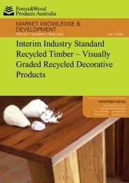 Interim Industry Standard Recycled Timber - Forest and Wood ...