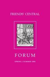 2006 Spring/Summer Forum - Friends' Central School