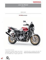 Line-Up Model CB1300 - Honda