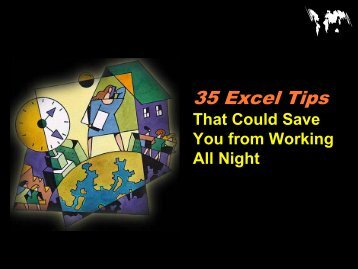 Useful Tips in Excel