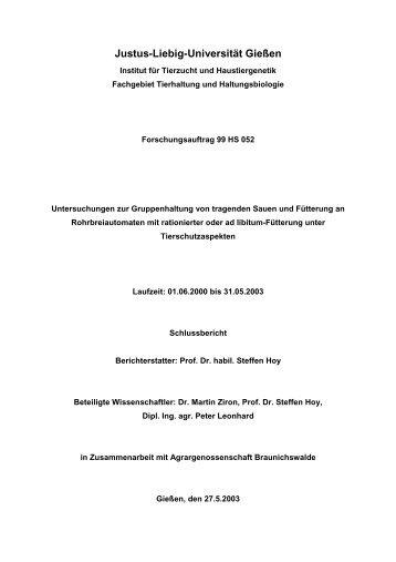 Justus-Liebig-Universität Gießen - BLE