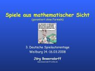 Spiele aus mathematischer Sicht - Die Ideen der Galois-Theorie