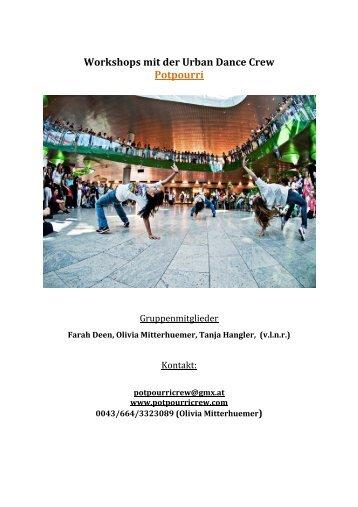Workshops mit der Urban Dance Crew Potpourri - fit4Future