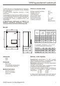 FOGYASZTÁSMÉRŐ BERENDEZÉSEK - GANZ Kapcsoló- és ... - Page 3