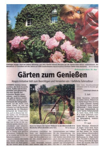 presseartikel chronologisch - Garten Eden