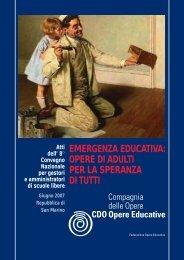 EMERGENZA EDUCATIVA: OPERE DI ADULTI PER LA ... - Foe