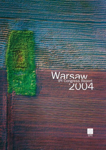 IPI Congress in Warsaw 2004 - International Press Institute
