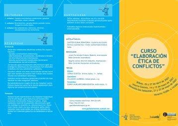 Gatazkak etikoki lantzeko ikastaroa - Gazteaukera - Euskadi.net