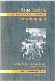 Vollversion (5.3 MB) - Forschungsjournal Soziale Bewegungen