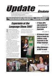 Ĝisdate 41, aprilo-junio 2008 - Esperanto Association of Britain