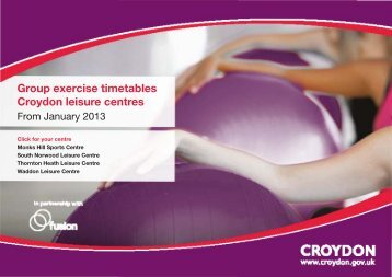 April 2013 Group Exercise Timetable - Fusion Lifestyle
