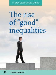 The rise of good inequalities - Fraser Institute