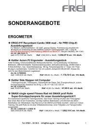 SONDERANGEBOTE - Frei AG