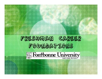 Freshman Career Foundations - Fontbonne University