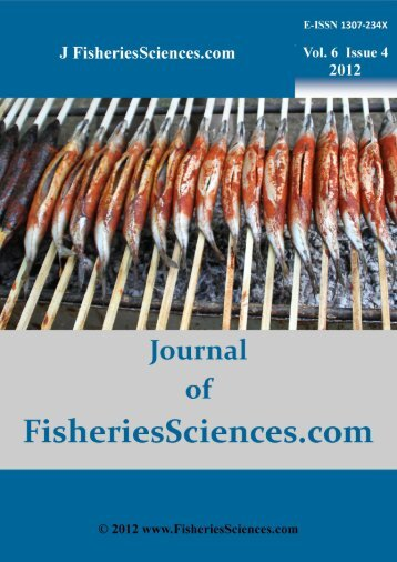 ALL Contents in PDF File, Click Vol. 6 Issue 4 - FisheriesSciences.com