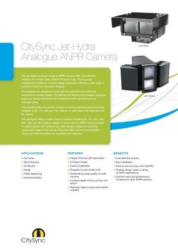 CitySync Jet-Hydra Analogue ANPR Camera - Brintex