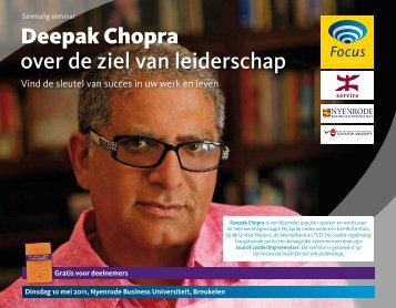 Deepak Chopra over de ziel van leiderschap - Focus Conferences