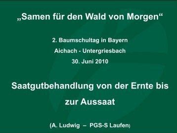 Saatgutbehandlung von der Ernte bis zur Aussaat - Bayern