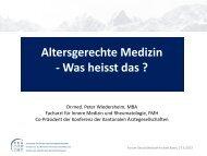 Dr. Peter Wiedersheim - Forums Gesundheitswirtschaft Basel