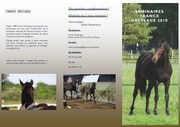 Télécharger PDF Inscription Cheval - France Dressage