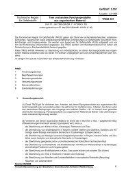 Technische Regeln für Gefahrstoffe - Teer und andere ...